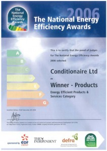 Conditionaire International - Winner of the National Energy Efficiency Awards